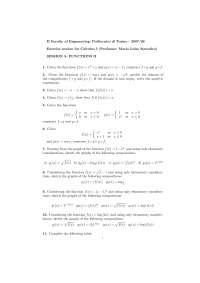 Calcolous 1 - Functions - Parte 2