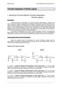 Circuitos Integrados Familias Logicas, Notas de estudo de Engenharia Elétrica