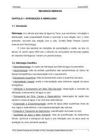 hidrologia UFRRJ - hidrologia apostila cap1, Notas de estudo de Engenharia Agronômica