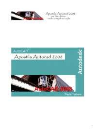 AutoCad 2008, Notas de estudo de Engenharia Elétrica