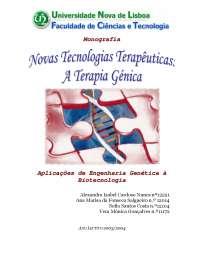 Terapia genica, Notas de estudo de Engenharia de Produção