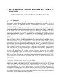 Pós tratamento de efluentes de reatores anaeróbios- cap 7, Notas de estudo de Engenharia Química