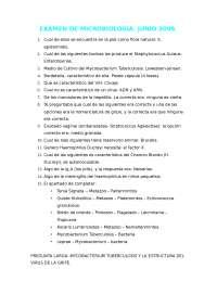 EXAMEN 2º PARCIAL DE MICROBIOLOGIA