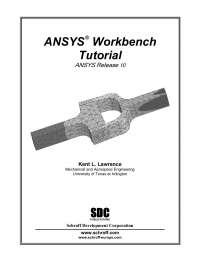 tutorial Ansys V 10, Resumos de Engenharia Mecânica