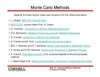 Monte Carlo Methods, Notas de estudo de Engenharia de Produção