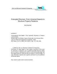 Entangled Polymers, Notas de estudo de Engenharia de Produção