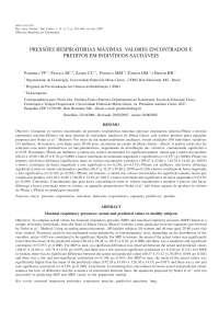 Artigo pressões respiratórias máximas, Manuais, Projetos, Pesquisas de Fisioterapia