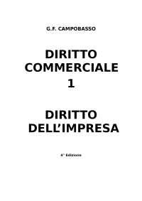 Diritto commerciale - L'impresa