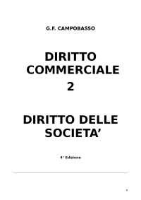 Diritto Commerciale: Le società (rif. Campobasso)