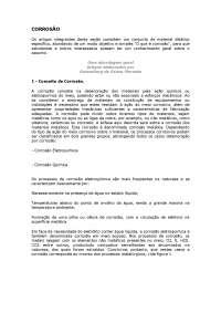 Apostila de corrosão, Notas de estudo de Engenharia de Materiais