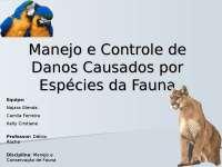 Manejo e Controle de Danos Causados por espécies, Notas de estudo de Engenharia Agrícola