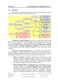 Características da Máquina de CC, Notas de estudo de Tecnologia Industrial