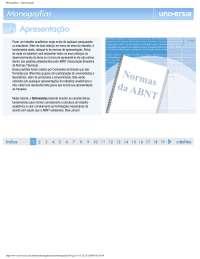 Normas da ABNT para monografias, Notas de estudo de Geografia