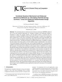 Combined Quantum Mechanical and Molecular, Notas de estudo de Engenharia Elétrica
