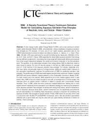 SM6 A Density Functional Theory Continuum Solvation, Notas de estudo de Engenharia Elétrica