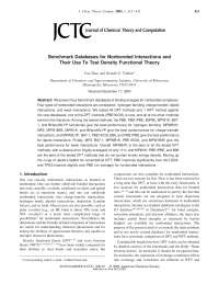 Benchmark Databases for Nonbonded Interactions, Notas de estudo de Engenharia Elétrica