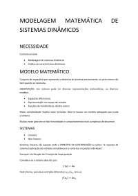 03 modelagem matematica de sistemas dinamicos, Notas de estudo de Engenharia Elétrica