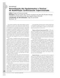 Diretriz dos equipamentos e técnicas da RCV, Notas de estudo de Fisioterapia
