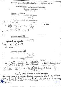 Analisi complessa - Tema d'esame 15-09-2004 con soluzione