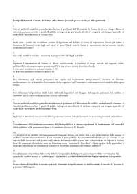 Scienza delle finanze - Domande d'esame
