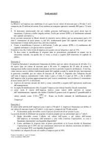 Finanza aziendale - Esercizi - 1