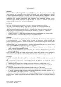 Finanza aziendale - Esercizi - 4