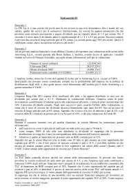 Finanza aziendale - Esercizi - 2