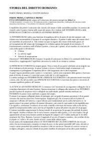 Storia del diritto romano - Riassunto