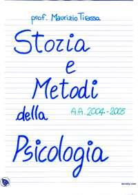 Storia e metodi della psicologia - Appunti - Parte 1