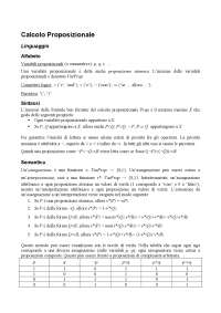 Appunti di Logica - Parte 2 - Calcolo Proposizionale