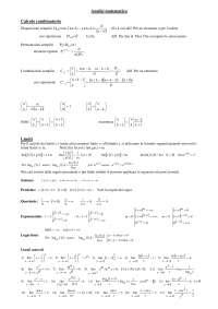 Formule analisi matematica