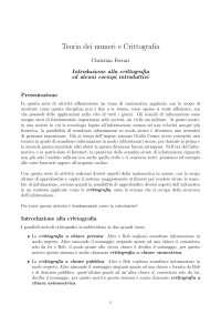 Teoria dei numeri e crittografia - Introduzione al corso