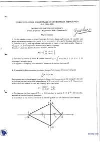 Modelli e metodi numerici - Esame risolto 26-1-2006