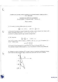 Modelli e metodi numerici - Esame risolto 27-1-2005