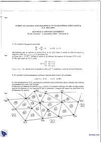 Modelli e metodi numerici - Esame risolto 9-9-2005