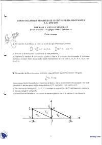 Modelli e metodi numerici - Esame risolto 22-6-2006