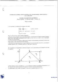Modelli e metodi numerici - Esame risolto 17-2-2005