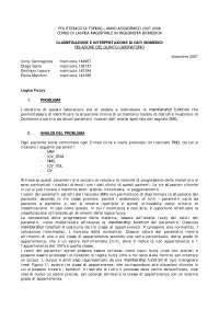 Classificazione e interpretazione di dati biomedici - Relazione di Laboratorio 5