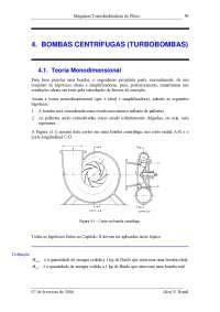 bombas centrifugas, Notas de estudo de Engenharia Mecânica