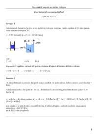 Idrodinamica - Esercitazione 1