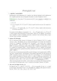 Appunti di Teoria della probabilità - Prerequisiti vari