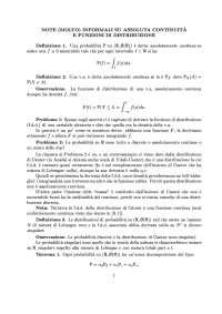 Appunti di Teoria della probabilità - Assoluta continuità e funzioni distribuzione