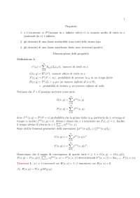 Appunti di Teoria della probabilità - Proprietà e classi