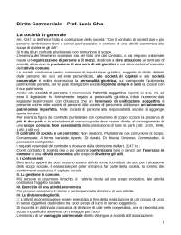 Appunti diritto Commerciale  - SSPL Marconi