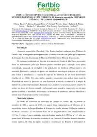 POPULAÇÕES DE MINHOCAS AMOSTRADAS USANDO DIFERENTES MÉTODOS DE EXTRAÇÃO EM FLORESTA DE Araucaria angustifolia NO PARQUE ESTADUAL DE CAMPOS DO JORDÃO, , Resumos de Agronomia