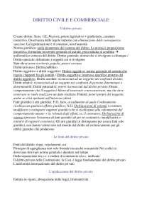Diritto civile e commerciale, Dispensa 1