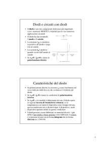 Slide - Teoria dei circuiti elettronici - Diodi e circuiti