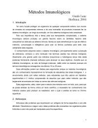 Métodos Imunológicos, Notas de estudo de Bioquímica