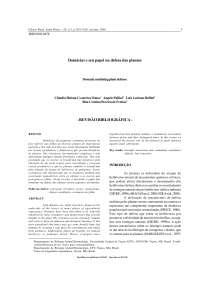 Biologia Botânica - Domáceas, Notas de estudo de Botânica