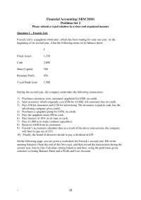 Esercizi di Contabilità, Problem Set 2 - In inglese